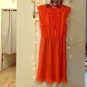 Madewell silk red dress